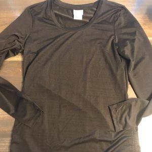 Danskin Now Black Long Sleeve Athletic Shirt